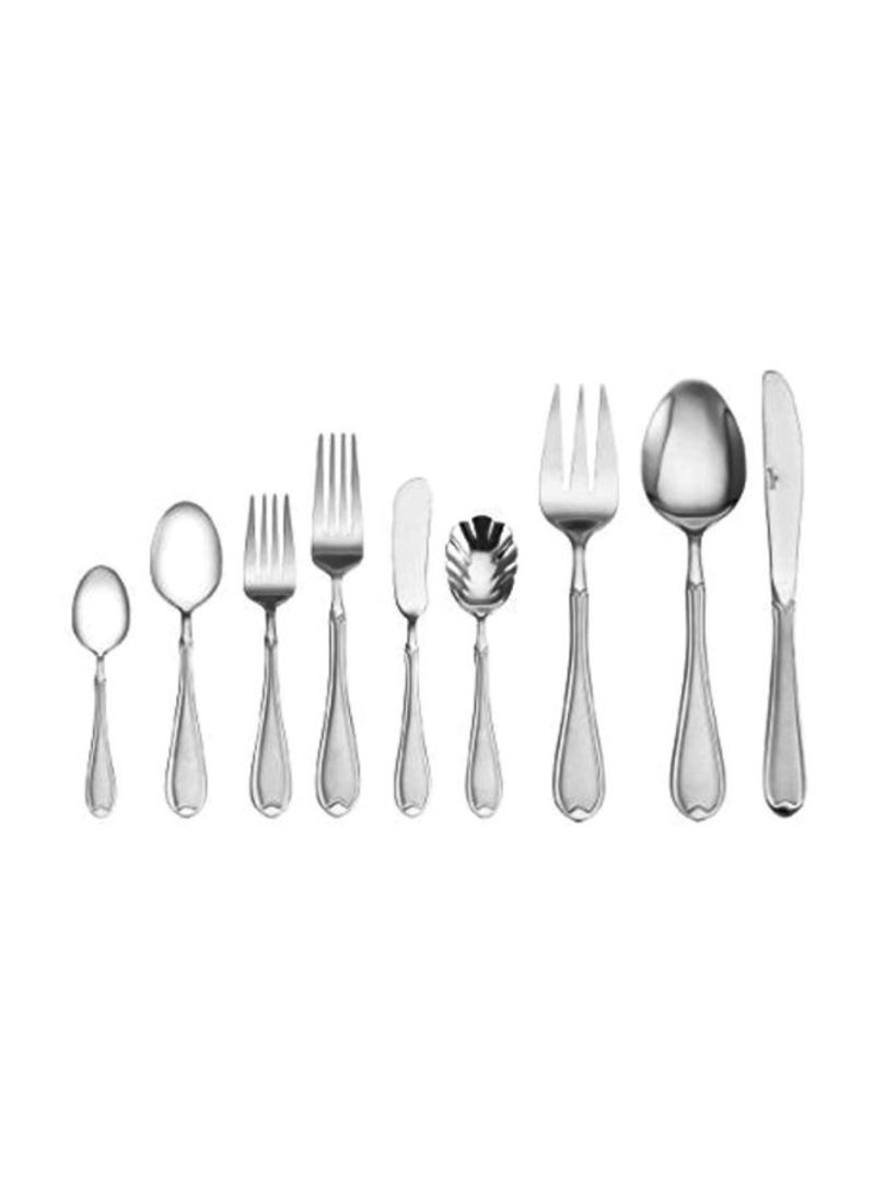 Royalford Stainless Steel Serving Spoons Silver 2-Piece Set Dining Utensils Dinner Cutlery Set