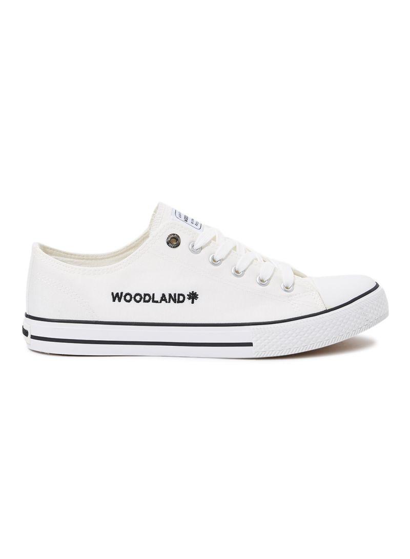 Shop WOODLAND Arthur Canvas Shoes White