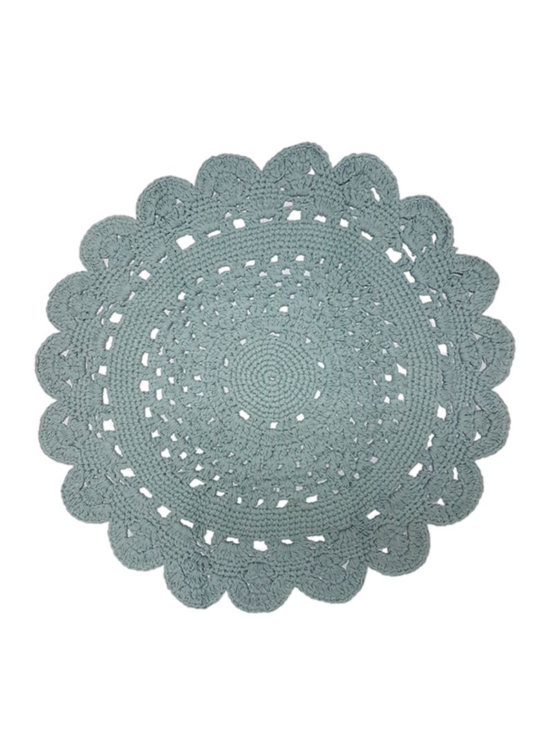 Homes R Us Hand Knit Round Crochet Rug