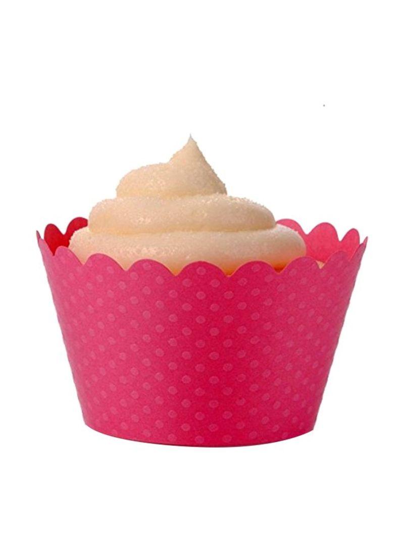 Dress My Cupcake Standard Hollywood Pink Cupcake Wrappers Set of 12 DMC1005