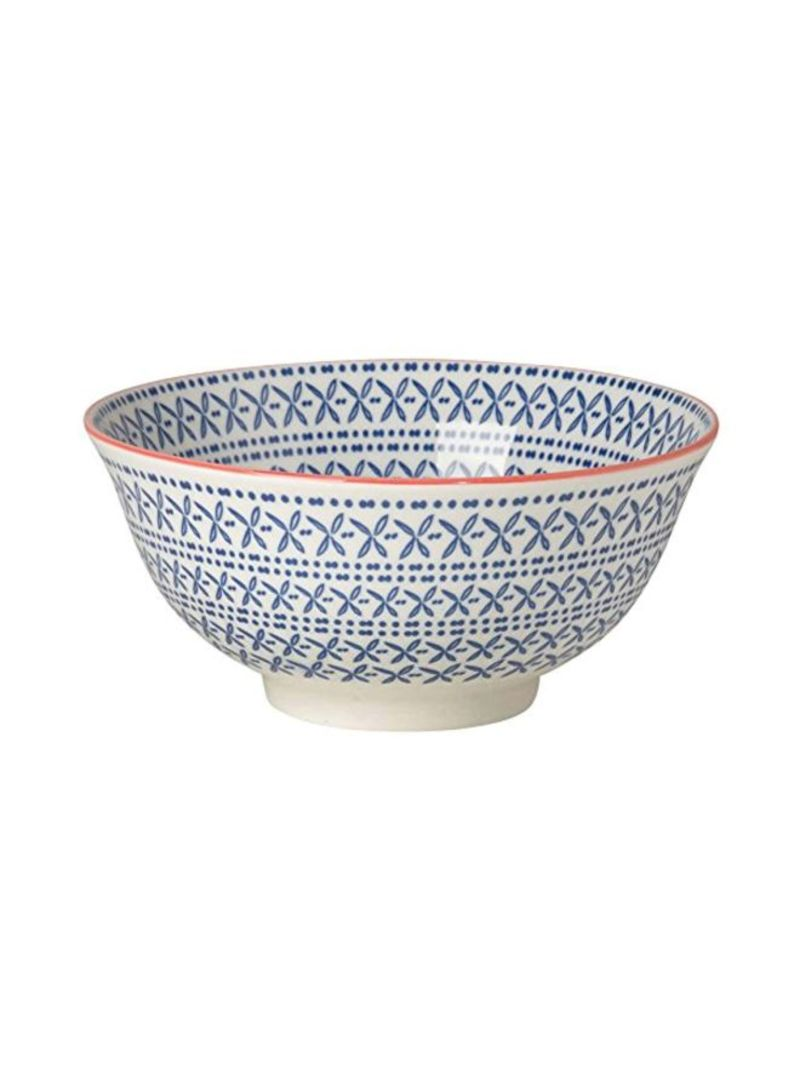 Shop Now Designs Set Of 8 Porcelain Akita Engraved Bowl Blue/White 8.8inch  online in Dubai, Abu Dhabi and all UAE