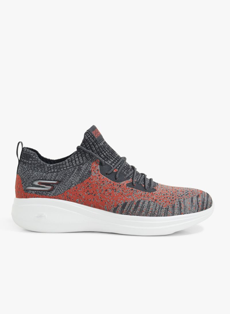 Shop SKECHERS Charcoal Grey Multi Go Run Fast Sports Shoes online in Dubai, Abu Dhabi and all UAE