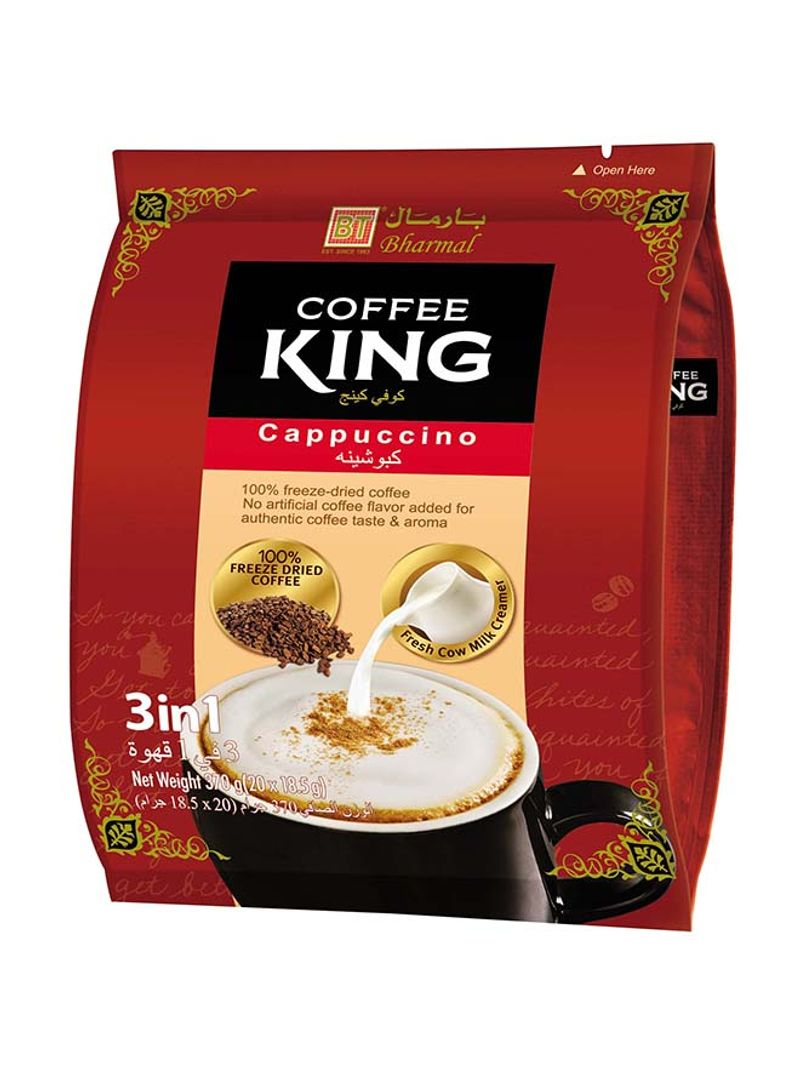 3 In 1 Cappuccino Coffee Pouch 370g Pack of 20