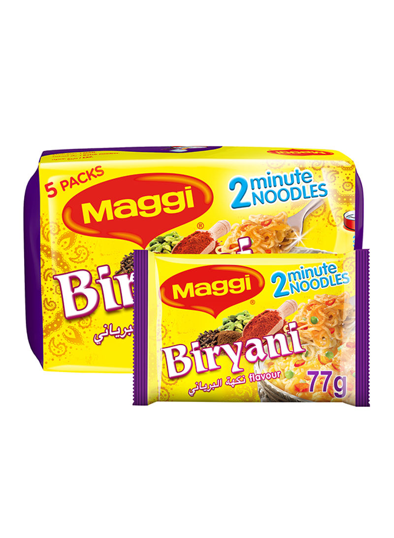 2 Minutes Noodles Biryani Flavour 77g Pack of 5
