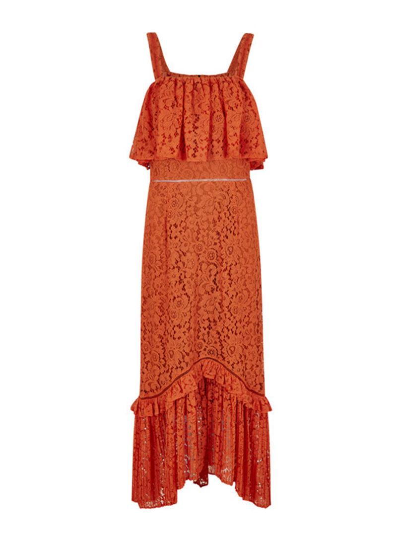 تسوق أف جي فور ويمين وفستان زوي دانتيل برتقالي أونلاين في السعودية