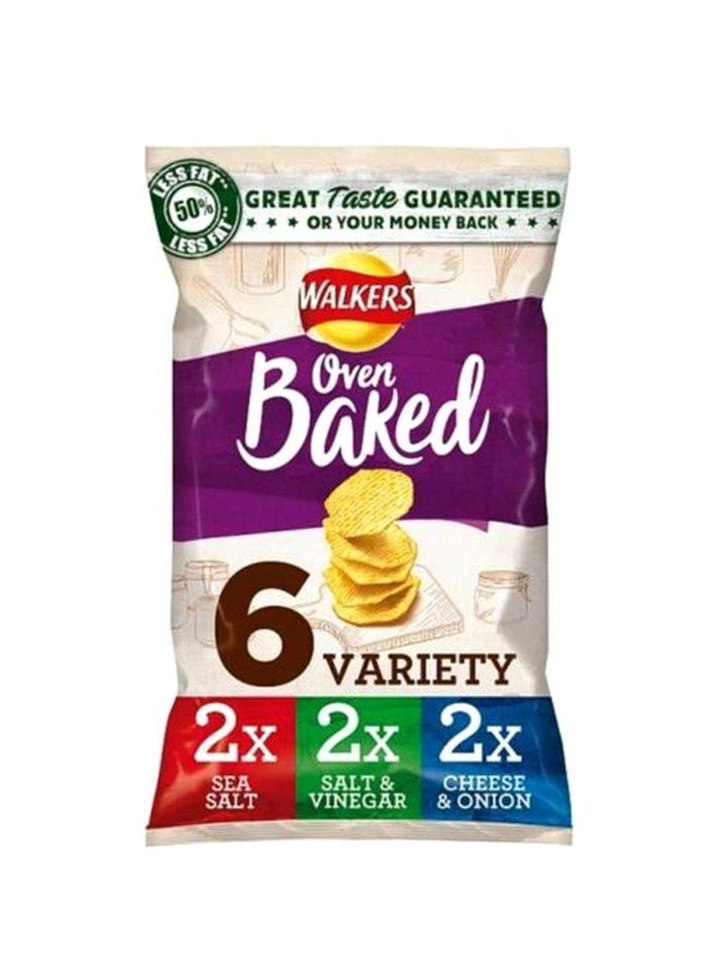 6 Oven Baked Crisps 150g Pack of 6
