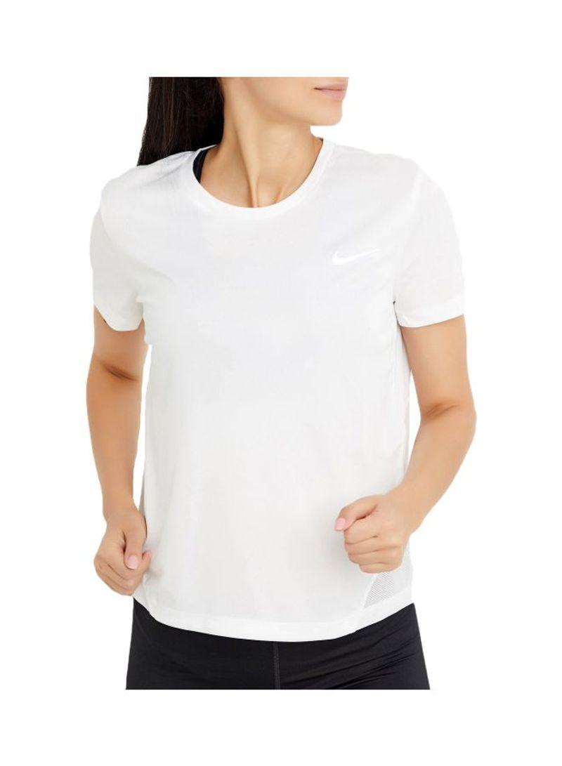 Shop Nike Nike Miler Running T Shirt White online in Riyadh, Jeddah and all KSA