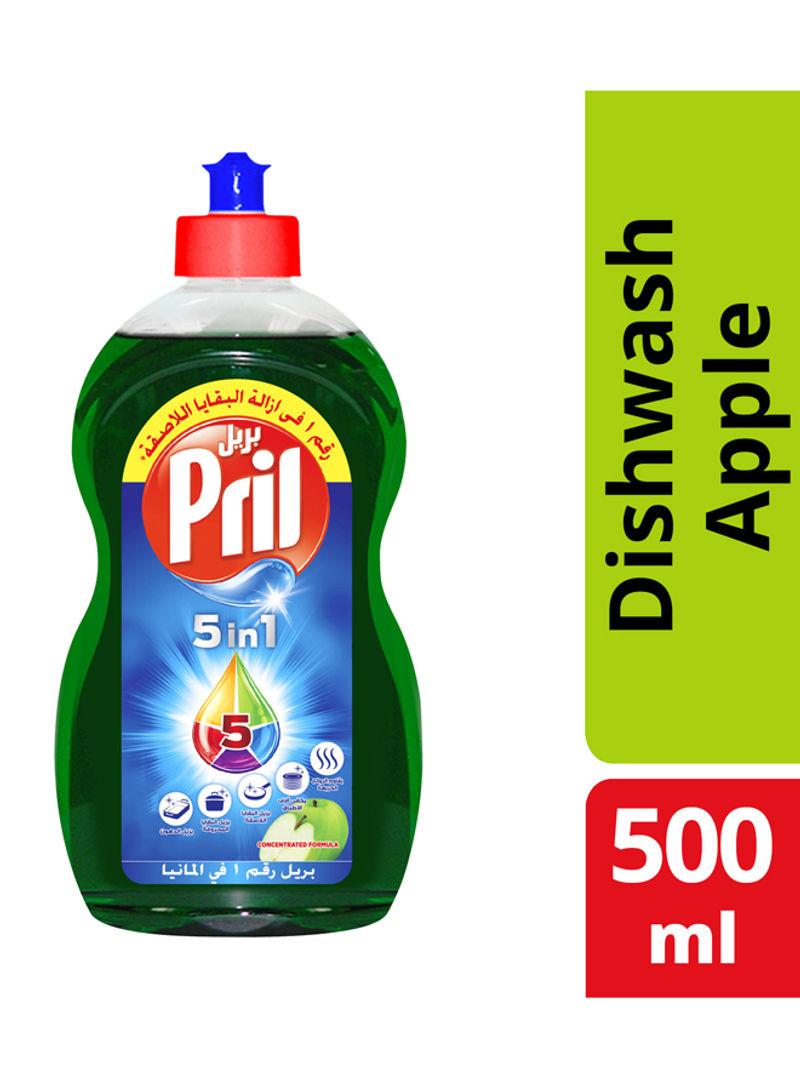 5 In 1 Dishwashing Liquid Apple 500ml