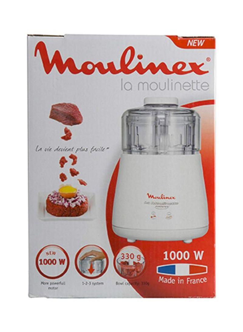 مفرمة لامولينيت 1000 واط من مولينكس - ابيض، 330 غرام - DPA144