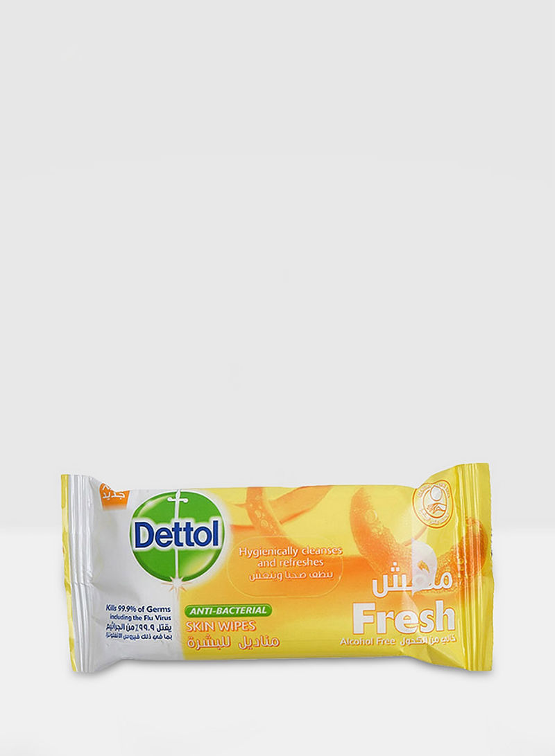 Fresh Anti-Bacterial Skin Wipes