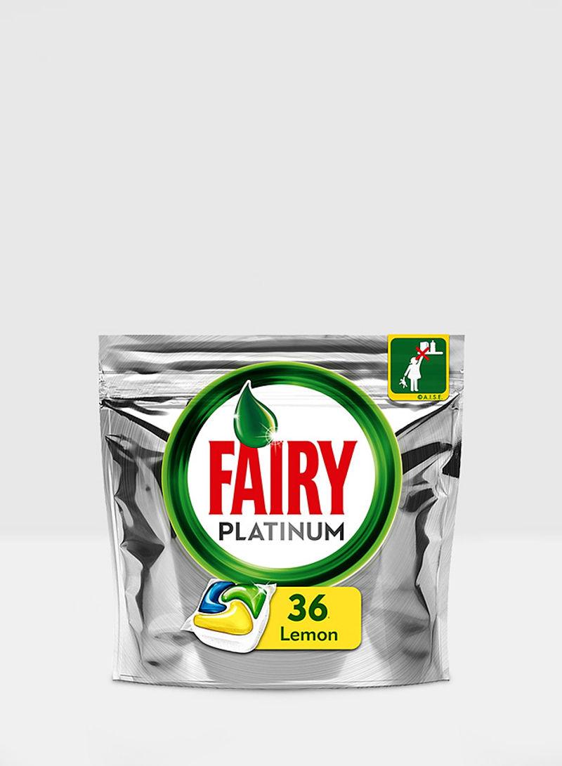 Platinum All In One Lemon Dishwasher 36 Tablets