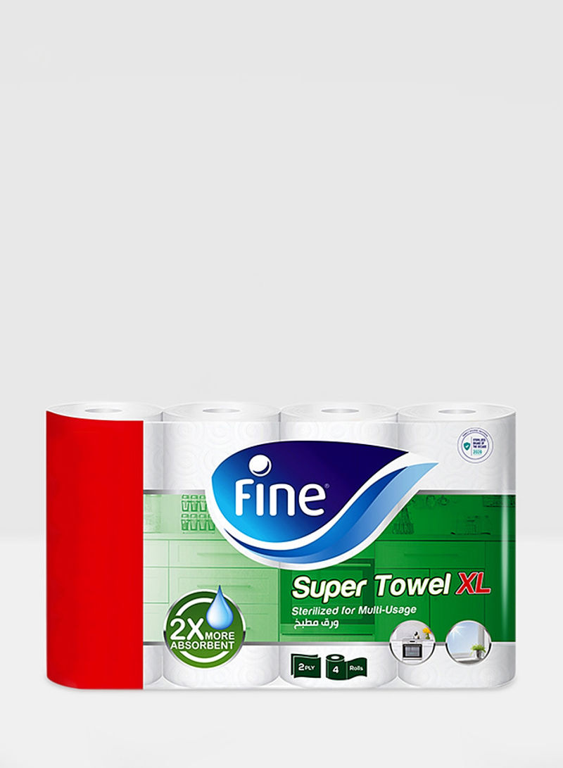 2 Ply Sterilized Paper Towel, Extra Long, 2X More Absorbent,