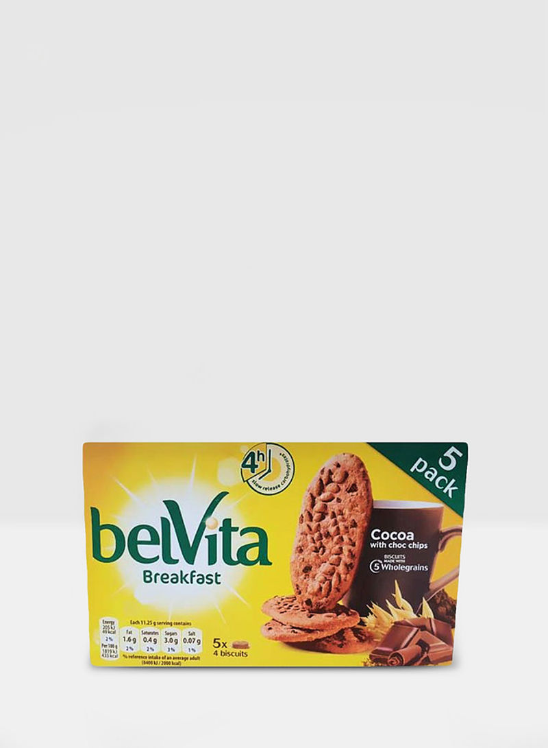 Breakfast Cocoa With Chocolate Chips Cookie 45g Pack of 5