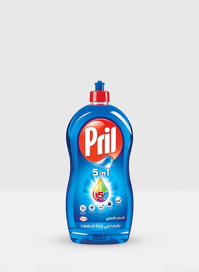 Blue 5 In 1 Dishwashing Liquid Clear 1L