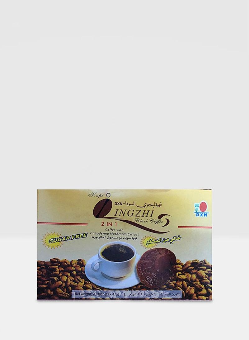 تسوق Dxn وقهوة لينجزي سوداء خالية من السكر 90غم أونلاين في السعودية