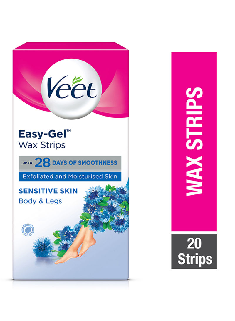 Shop Veet Hair Removal Cold Wax Strips Sensitive Skin Pack Of 20