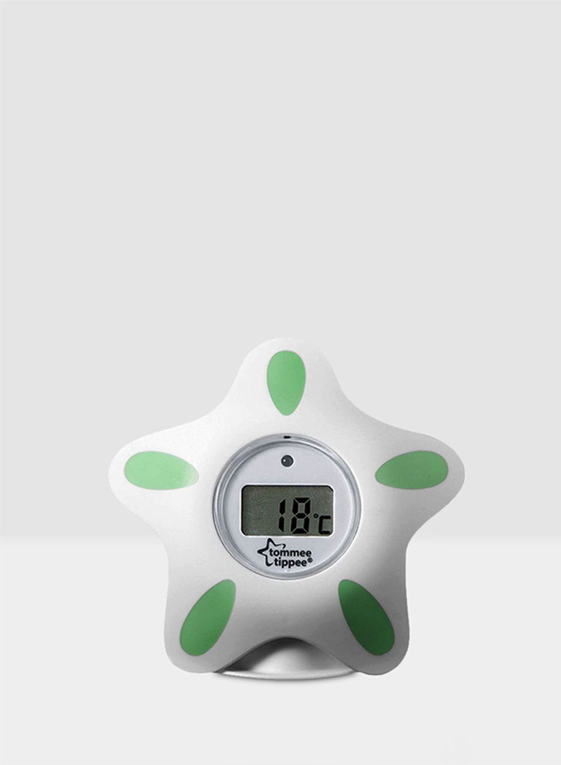 Tommee Tippee Closer to Nature Room and Bath Thermometer White and Green NEW