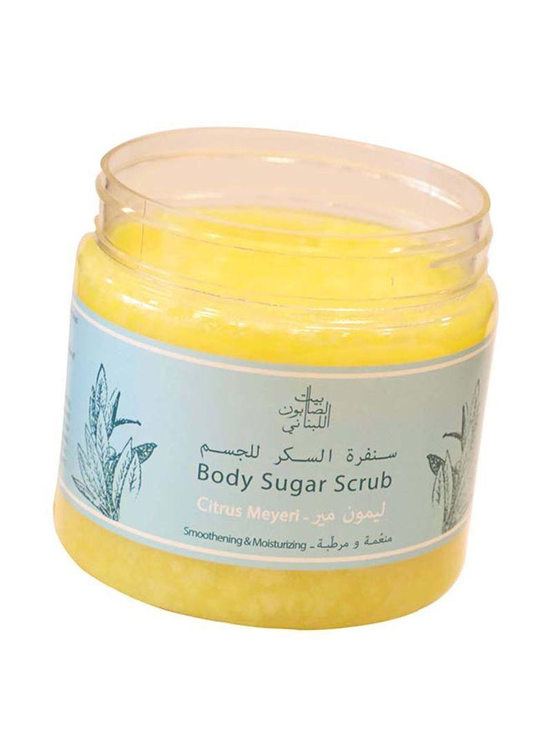 تسوق بيت الصابون اللبناني وCitrus Meyeri Body Sugar Scrub 500غم أونلاين في  السعودية