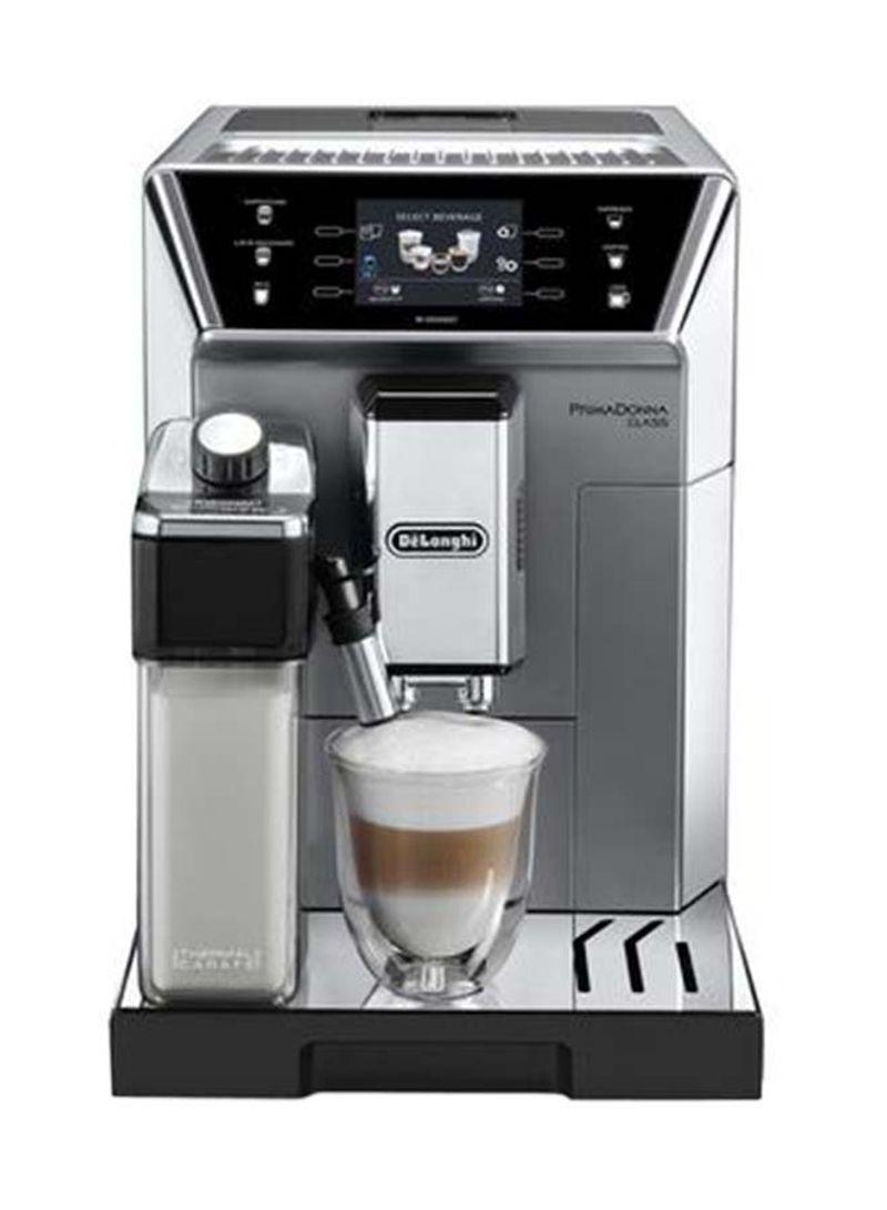 ماكينة صنع قهوة أوتوماتيكية بالكامل 1450 وات DLECAM550.75MS فضي