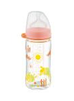 زجاجة رضاعة من الزجاج بعنق عريض لأعمار منذ الولادة وما فوق بسعة 240 مل