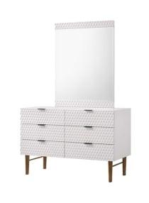 Shop Homes R Us Estilo Dresser With Mirror White Online In Dubai Abu Dhabi And All Uae