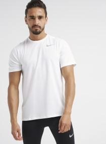 3f891062c Shop Nike Dri-Fit Crew Neck T-Shirt Grey Heather/Neutral Olive ...