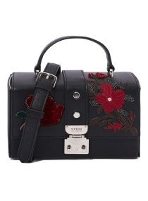 7168db6cb3 Shop GUESS Tamra Floral Printed Crossbody Bag Black online in Riyadh ...