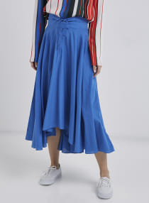 a9f34afb2de7 productboxImg_v1556442947/N21922203A_1. noon-now. LOST INK. Flared Midi  Skirt Blue