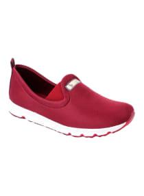 burgundy slip on trainers