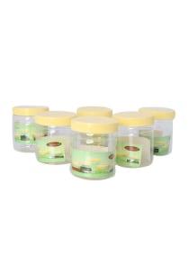 تسوق و6 Piece Plastic Pet Jar أصفر شفاف 0 25لتر أونلاين في السعودية