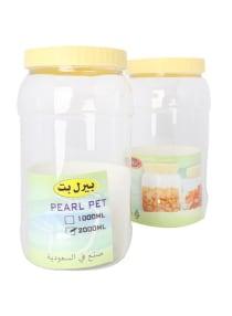 تسوق و2 Piece Plastic Pet Jar أصفر شفاف 2لتر أونلاين في السعودية