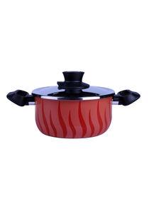 كسرولة طهي الحساء تمبو فلايم مصنوعة من الألومنيوم المانع للالتصاق بمقاس 28 سم مع غطاء طراز C5485382 من تيفال أحمر/أسود 28سنتيمتر
