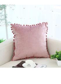 غطاء وسادة مزخرف وردي 45 x 45سنتيمتر