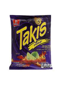تسوق تاكيس ورقائق التورتيلا بطعم الليمون الأخضر والفلفل الحار من فويجو 113غم أونلاين في الإمارات